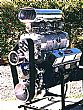Blown small block marine engine