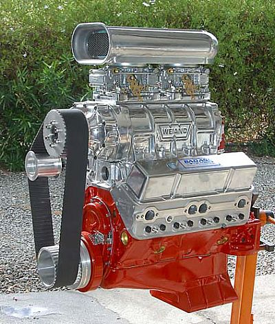 Blown small block Chevy