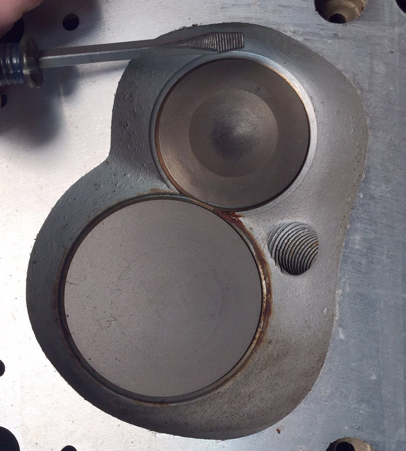 chevy valves in a small block ford head