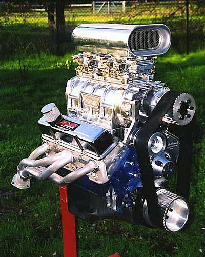 Blown small block street engine